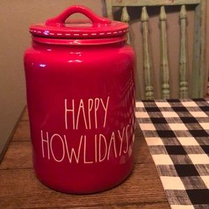 New Rae Dunn Christmas Happy Howlidays Canister